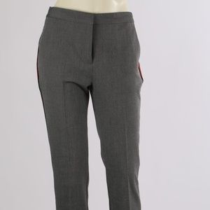 ZARA BASIC Gray Red Striped Slim Leg Pants Trouser